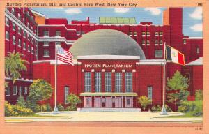 Hayden Planetarium, New York City, N.Y., Early Linen Postcard, Unused