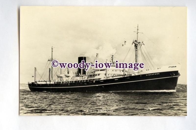 pf0279 - P&O Cargo Ship - Singapore , built 1951 renamed Pando Cove - postcard