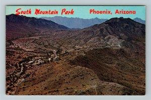 Phoenix AZ- Arizona, South Mountain Park, Colorful Desert Views, Chrome Postcard