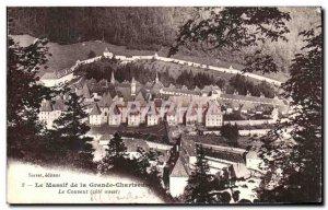 Old Postcard Le Massif de La Grande Chartreuse Convent