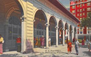 U.S. Post Office, St. Petersburg, Florida, Early Postcard, Unused