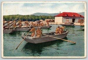 North English IA Home Lumber~Engineers Build Pontoon Bridge~Nat'l Defense 1914