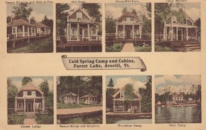 AVERILL, Vermont, 1900-1910s; Cold Spring Camp And Cabins, Forest Lake