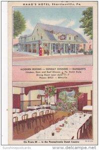 Haag's Hotel and Restaurant Interior Dining Room Shartlesville Pennsylva...