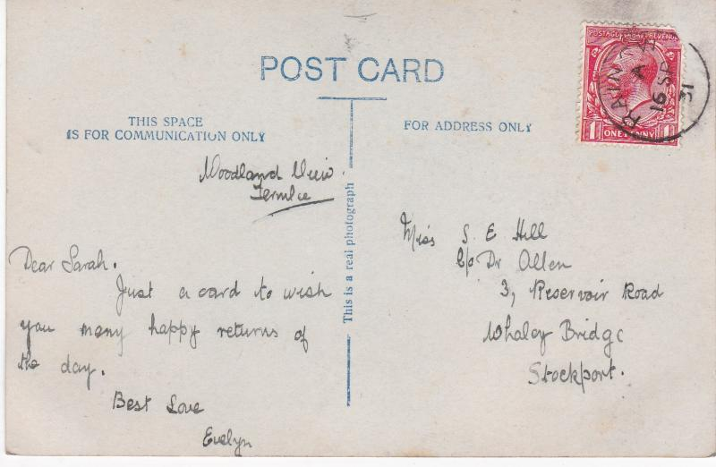 Post Card Greetings - Birthday  Sincere Wishes for Your Happiness