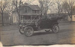 Caney KS 1911 Automobile Coca-Cola Distributor Building Background RP Postcard