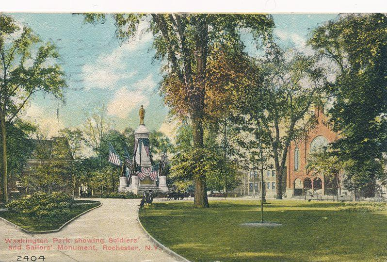 Washington Park Soldiers and Sailors Monument Rochester New York - pm 1911 - DB