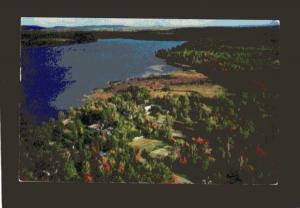 ME View Lakewood Theatre, Theater, Lakewood Maine Postcard Lake Wesserunsett