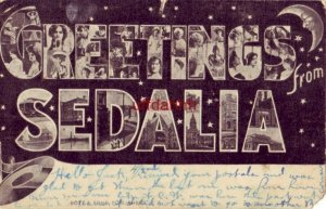 PRE-1907 GREETINGS from SEDALIA MISSOURI 1907 views of women and the city