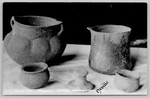 Lewistown IL~Dixon Mounds Burial Site St Park~Neville Pottery RPPC 1950 Postcard