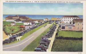 The Center Of Carolina Beach, Popular Bathing Resorts On The Atlantic Ocean, ...