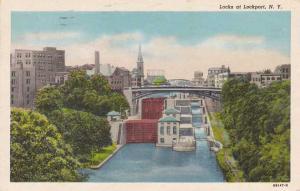 The Locks at Lockport NY, New York - pm 1952