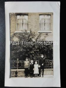 Essex WOODFORD GREEN 5 Gainsborough Road shows Children & Boy Scouts Old RP PC