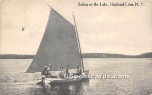 Sailing on the Lake Highland Lake (Venoge, 1897 - 1911) NY 1914