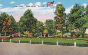 Illinois Peoria Parkside Drive Entrance Laura Bradley Park