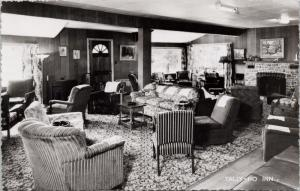 Tally Ho Inn near Huntsville Ontario ON Muskoka Interior Real Photo Postcard E36