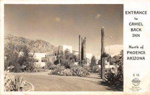 F50/ Phoenix Arizona RPPC Postcard c1940s Camel Back Inn
