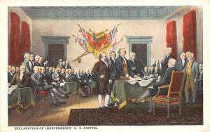 Declaration of Independence, US Capitol Colonial Unused