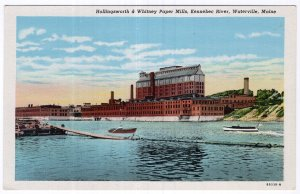 Waterville, Maine, Hollingsworth & Whitney Paper Mills, Kennebec River