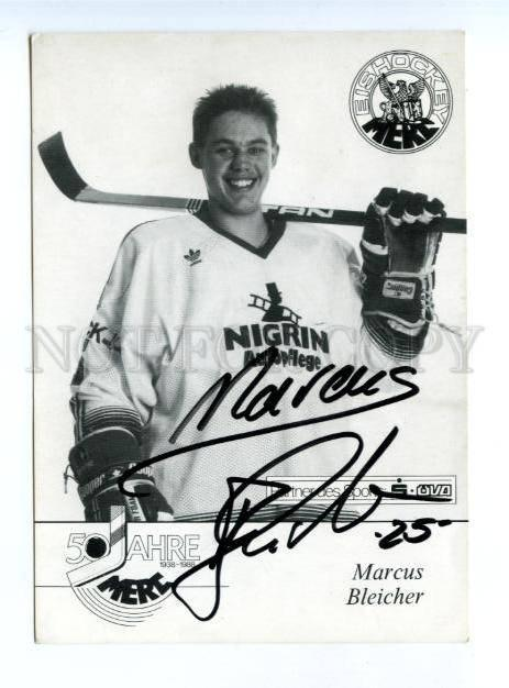 164154 Marcus BLEICHER German ICE HOCKEY Player AUTOGRAPH