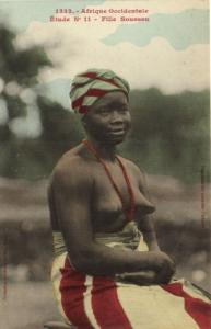 CPA Senegal Ethnic Nude Fortier - 1332. Étude N 11 Fille Soussou (70907)