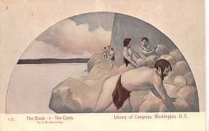 Artist Post Card The Book - I - The Cairn by J. W. Alexander Libr...