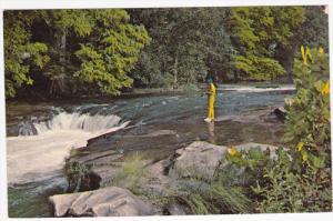 Horse Shoe Falls, Canyon Lake, Fishing, NEW BRAUNFELS, Texas, 40-60's
