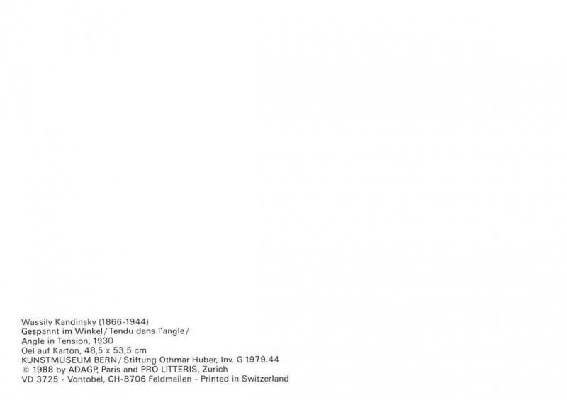 Wassily Kandinsky, Gespannt im Winkel, Angle in Tension Postcard