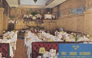 NEW YORK, New York, 1930-1940's; Three Crowns Restaurant