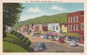 North Carolina Sylva Old Cars On Main Street Looking West