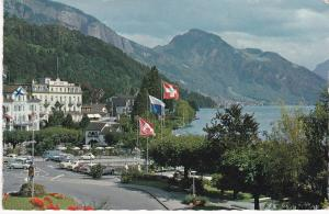 Post Card   Switzerland Weggis Kurort (Health Resort) mit Rigi