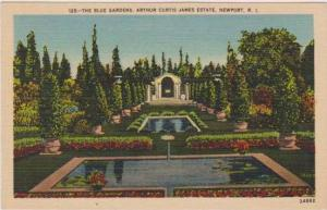 The Blue Gardens, Arthur Curtis James Estate, Newport, Rhode Island 1930-40s
