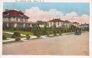 Ocean Avenue, Deal, New Jersey, Early Postcard, Used in 1929