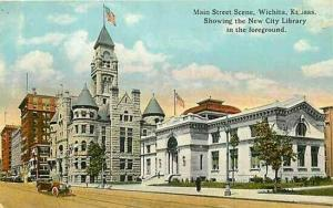 KS, Wichita, Kansas, Main Street, Library, Tichnor R-59568