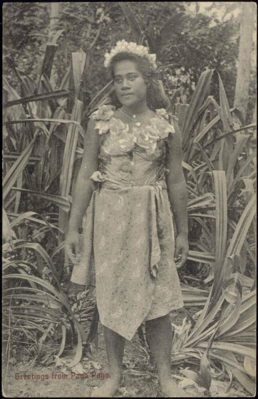 Samoa, PAGO PAGO, Beautiful Native Girl (1910s)