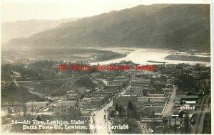 ID, Lewiston, Idaho, RPPC, Air View, Downtown, Burns Photo Co No 26