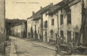 france, BADONVILLER (74), Rue Notre Dame (1918)