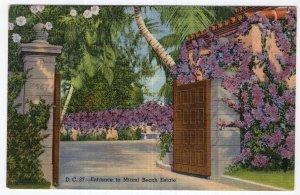 Entrance to Miami Beach Estate
