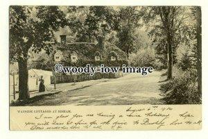 tq2313 - Berks - Wayside Cottages & Lane c1900s, at Bisham - Postcard Tuck's