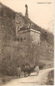 Le chateau de Rocheblave. Cart Horse Old vintage French postcard
