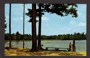 DE View of Beach at Trap Pond LAUREL DELAWARE Postcard