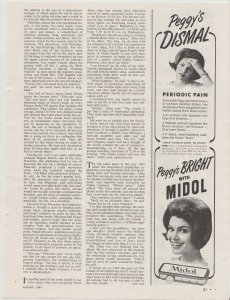 Midol 1965 Print Ad, Peggy's Dismal, Peggy's Bright