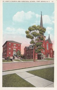 New York Port Jervis St Mary's Church and Parochial School sk1582