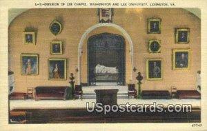 Lee Chapel, Washington & Lee University - Lexington, Virginia