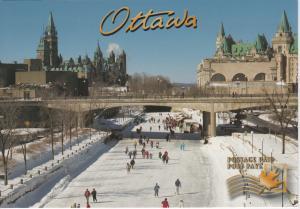 Skating on the Rideau - Ottawa Ontario - Unused, Prepaid Postage