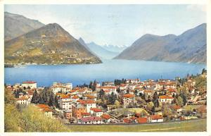 Switzerland Old Vintage Antique Post Card Lugano Paradiso 1957