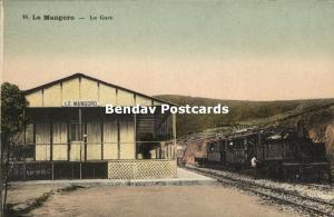 madagascar, LE MANGORO, La Gare, Railway Station, Steam Train (1910s)