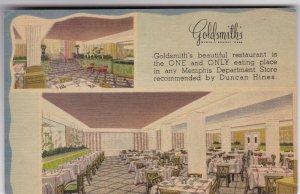 Tennessee Memphis Goldsmith's Restaurant 1949 sk7430