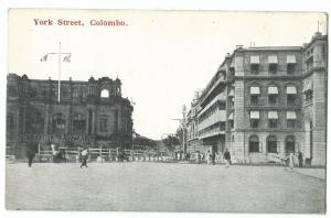 Sri Lanka / Ceylon; York St, Colombo PPC, Unposted by Ponnamblem