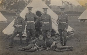 RP: NEW CLEETHORPES , Lincolnshire , England ,1900-10s ; Soldiers Portrait